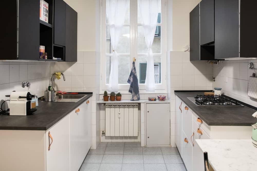 Habitación individual, para no fumadores, baño privado - Cocina compartida