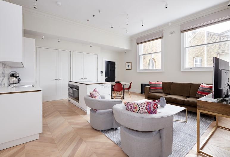 松德爾酒店 - 玫瑰街, 倫敦, 時尚公寓, 2 間臥室, 客廳
