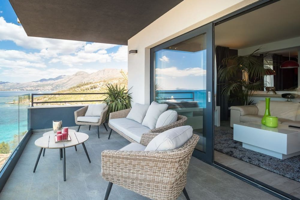 Apartamento Deluxe, 2 Quartos, Varanda, Vista Mar - Varanda