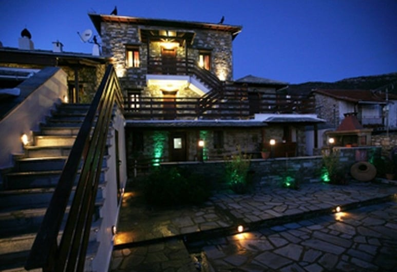 Anemoessa Traditional Village Hotel, South Pelion, Hotel Front – Evening/Night