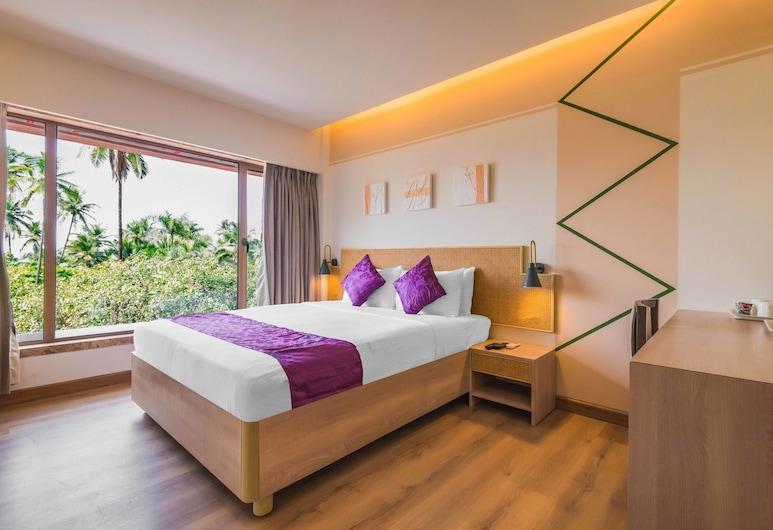 Treebo Tryst Royal Garden, Mumbai, Deluxe-værelse - 1 queensize-seng - ryger, Værelse