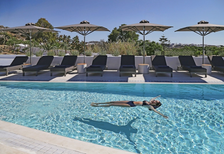 Paliostafida Beach Hotel, Céphalonie, Studio Familial, vue piscine, Piscine en plein air