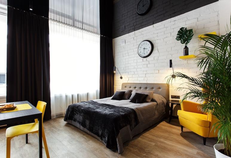 Old Town Trio Apartments, Vilnius, Deluxe külaliskorter, 1 lai voodi, suitsetamine keelatud, Lõõgastumisala