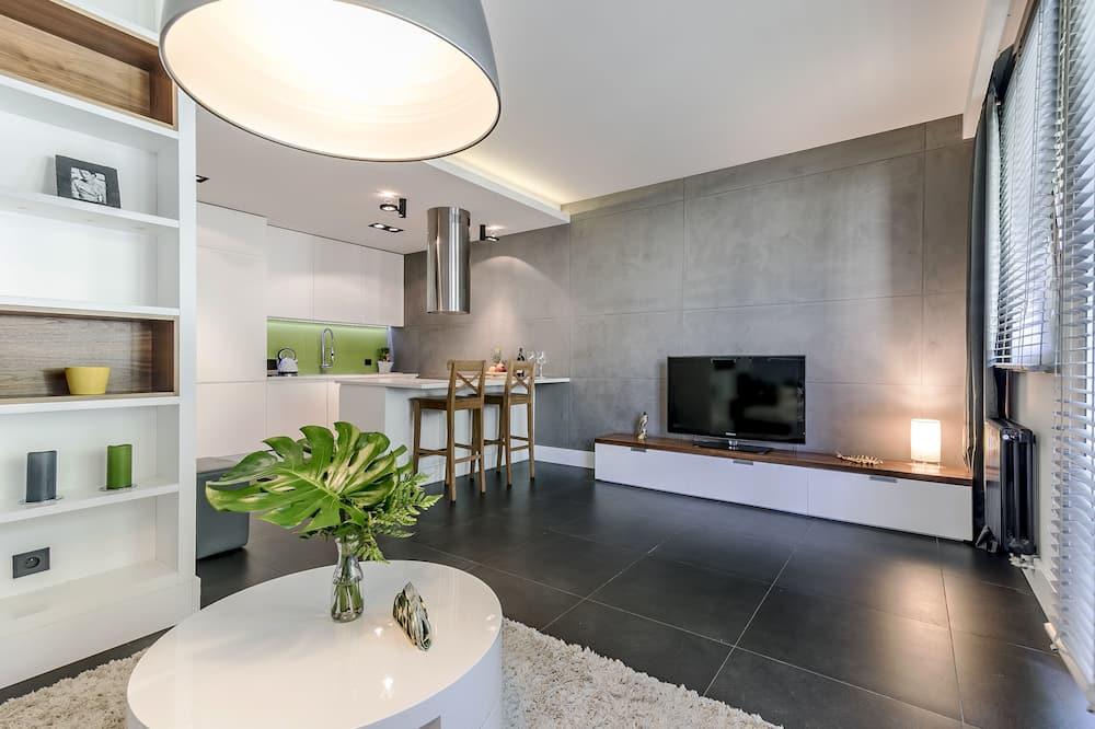 Premium Apartment, 1 Bedroom (nice2stay Oliwa Park 1) - Ruang Tamu