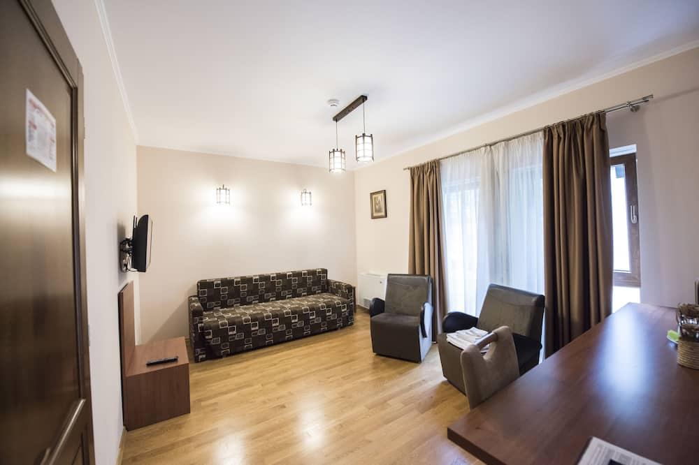 Klasisks dzīvokļnumurs, 1 divguļamā karalienes gulta un dīvāngulta, nesmēķētājiem - Dzīvojamā istaba
