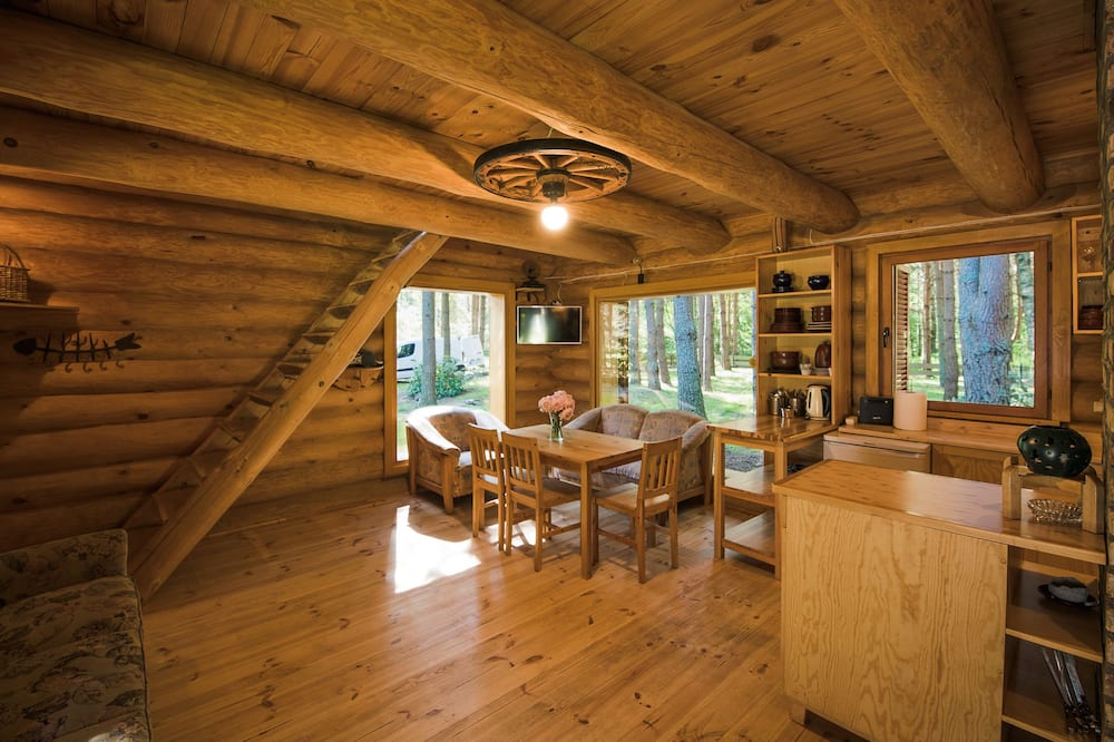 Two-Bedroom Holiday Home with Sauna - Living Room