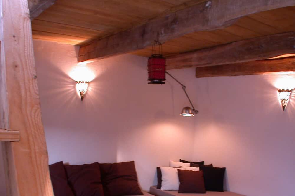 סוויטה מעוצבת, נוף לגן (Atelier 59) - אזור מגורים