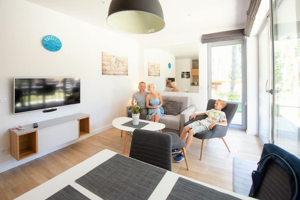 Apartamentai su patogumais, 2 miegamieji - Svetainės zona