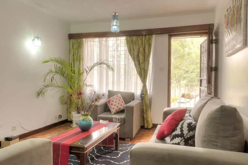 Apartamento, 1 cama de casal, Não-fumadores - Área de Estar