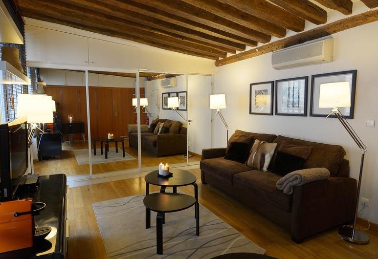 巴黎假日酒店 - 提伯格布格酒店, 巴黎, 基本公寓, 客廳