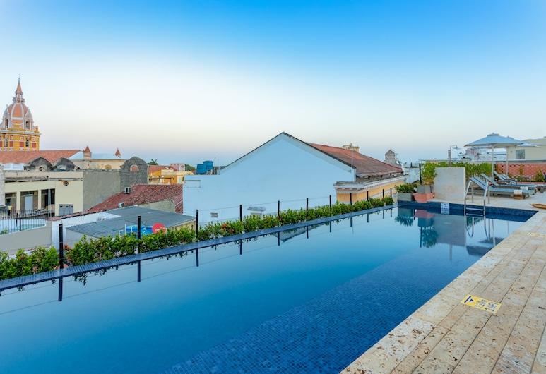 Santa Catalina Hotel, Kartachena, Baseinas ant stogo