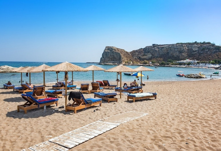 Stegna Akti, Rodos, Pláž