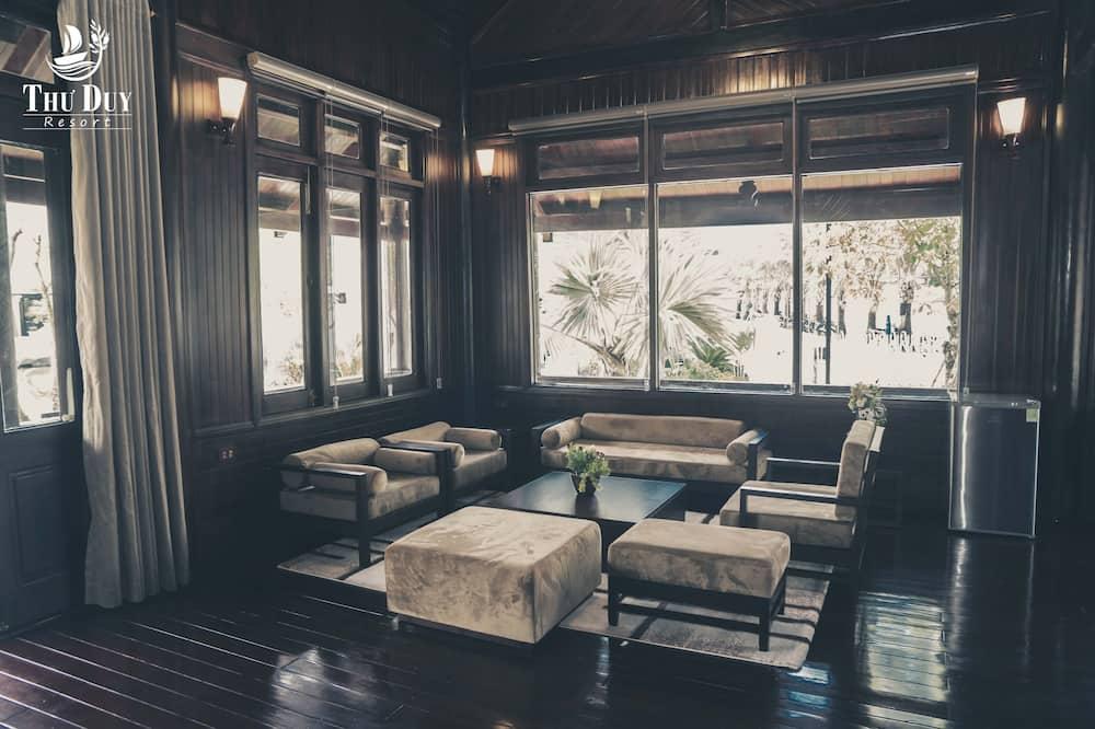 奢華洋房, 1 張加大雙人床, 渡假村景觀 - 客廳