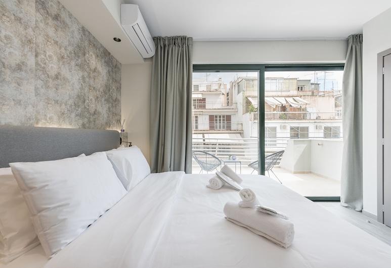 아테네 라이츠 호텔, 아테네, 슈피리어룸, 발코니, 시내 전망 (Lights), 객실