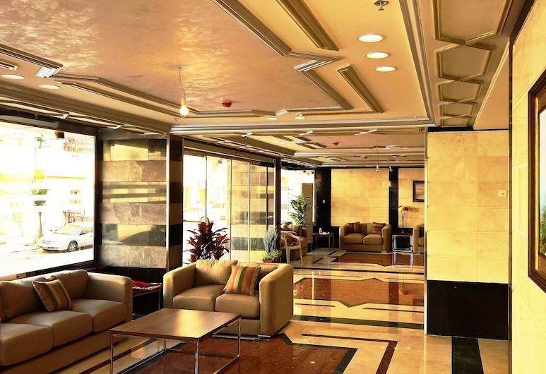 Gold Palace Hotel Apartments, Jedda, Sittområde i lobbyn