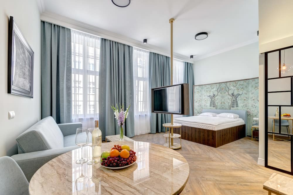 Студия-люкс «Премиум», 1 двуспальная кровать «Квин-сайз», для некурящих - Главное изображение