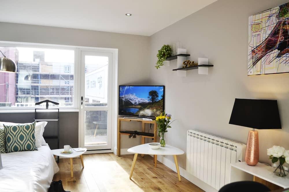 公寓, 1 張標準雙人床和 1 張沙發床, 露台 - 客廳