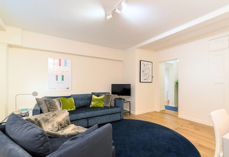 Beautiful 1 bed Garden Flat, 10 Mins to St Paul's!, London, Living Room