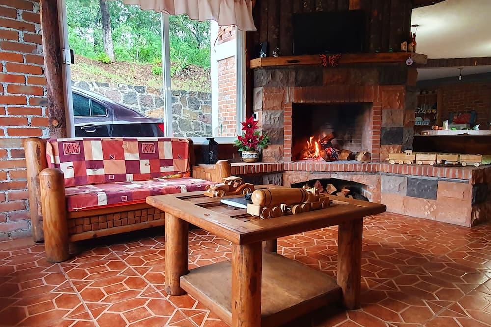 Cabaña familiar, Varias camas, con acceso para silla de ruedas, para no fumadores - Sala de estar