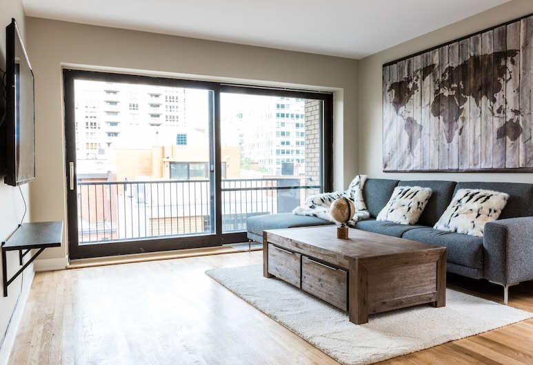 Elegant Apartments in City Centre by Nuage, Montreal, Apartment, Multiple Beds, Non Smoking (46-3435), Living Room