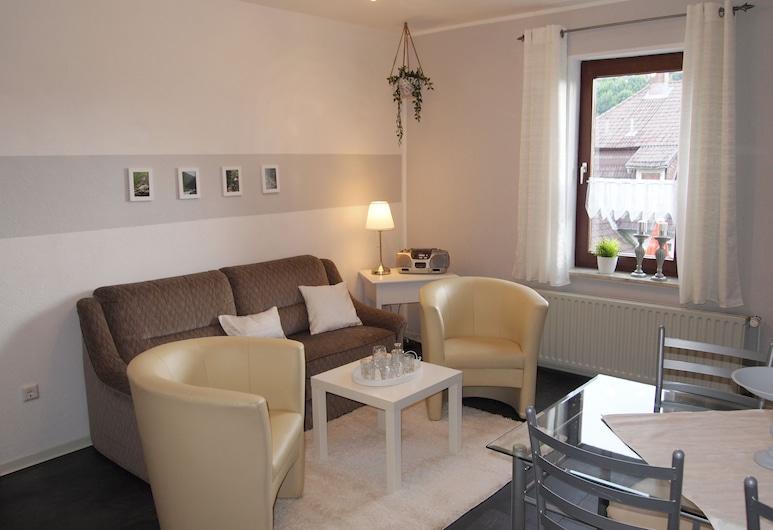 Ferienwohnung Bella, Braunlage, Huoneisto (Bella incl. 35 EUR cleaning fee), Olohuone