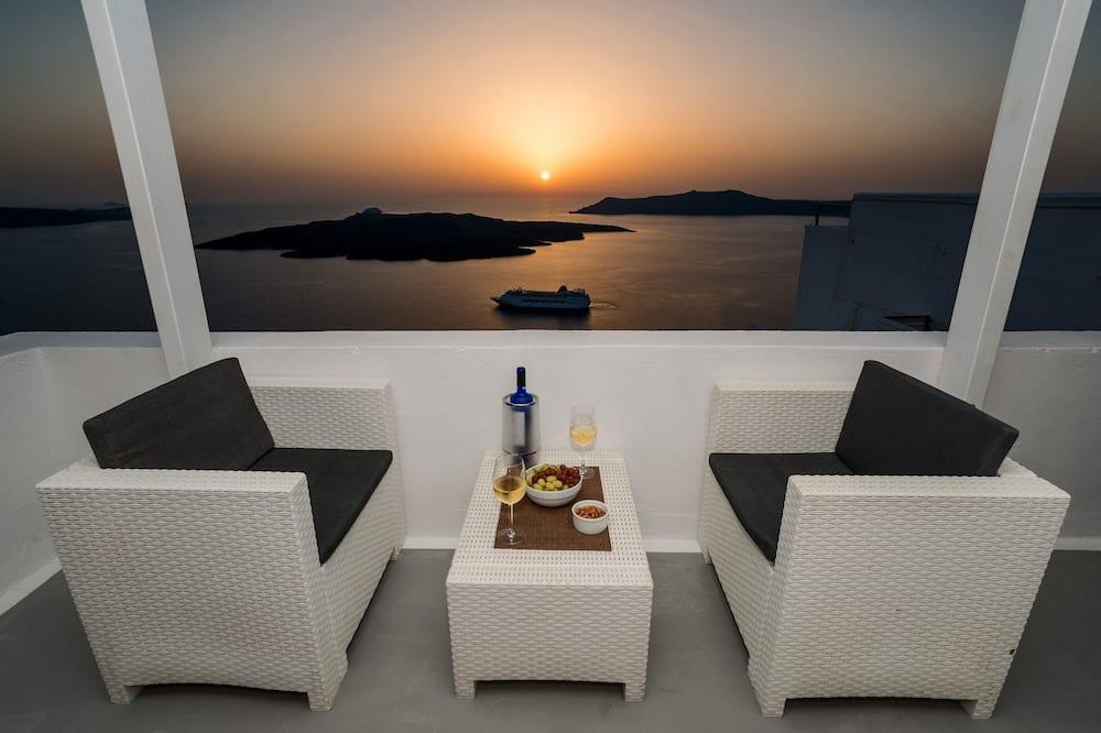 Panorámás apartman, terasz, kilátással a tengerre - Kiemelt kép