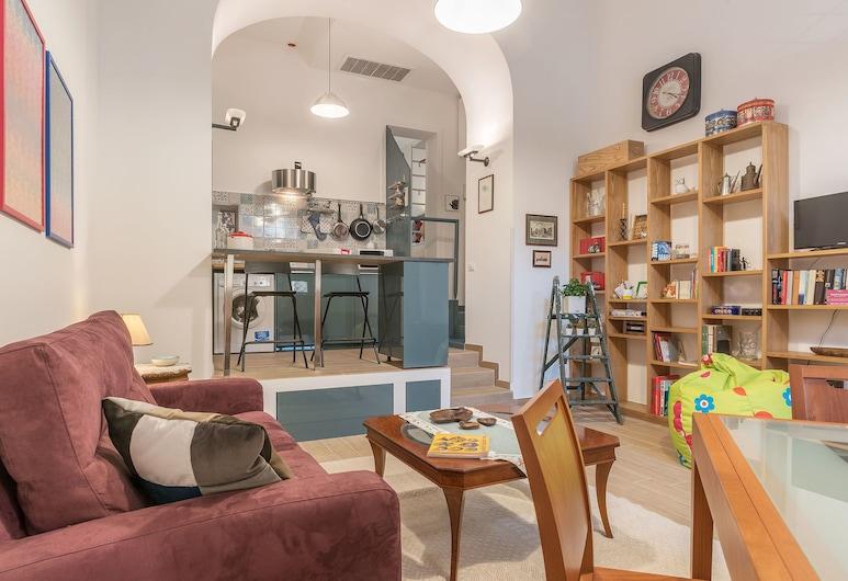 山之藝術公寓酒店, 羅馬, 公寓, 1 間臥室, 客廳