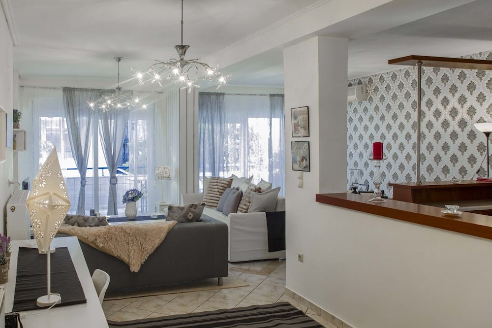 Luksusa dzīvokļnumurs, trīs guļamistabas - Dzīvojamā zona