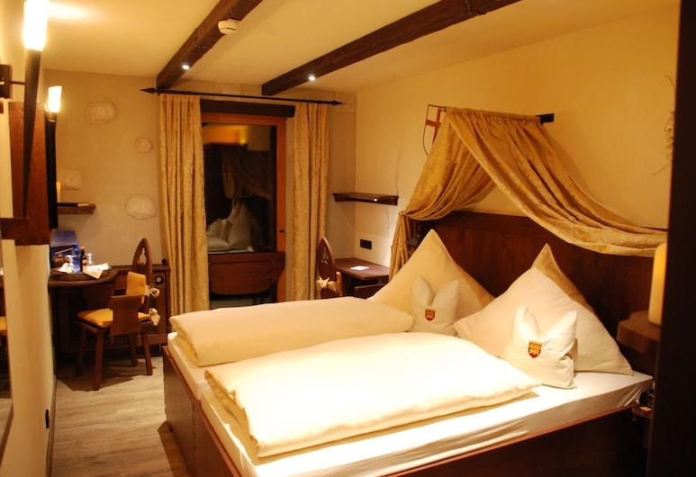 Mittelalterhotel-Gästehaus Rauchfang, Meersburg, Habitación doble, 1 cama de matrimonio grande, no fumadores, Habitación