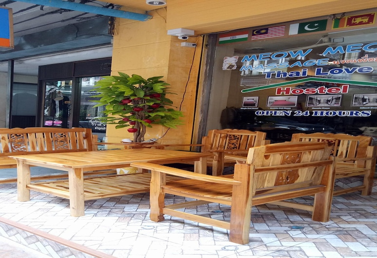 Thai Love Cafe & Hostel, Bangkok, Terras