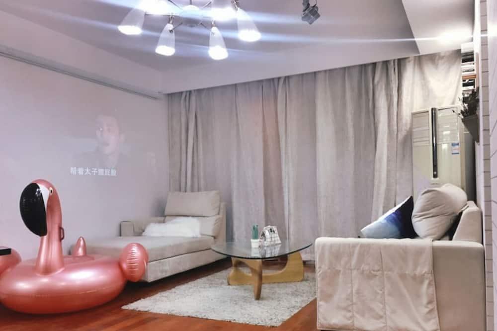 Estudio Deluxe, vista a la ciudad - Sala de estar