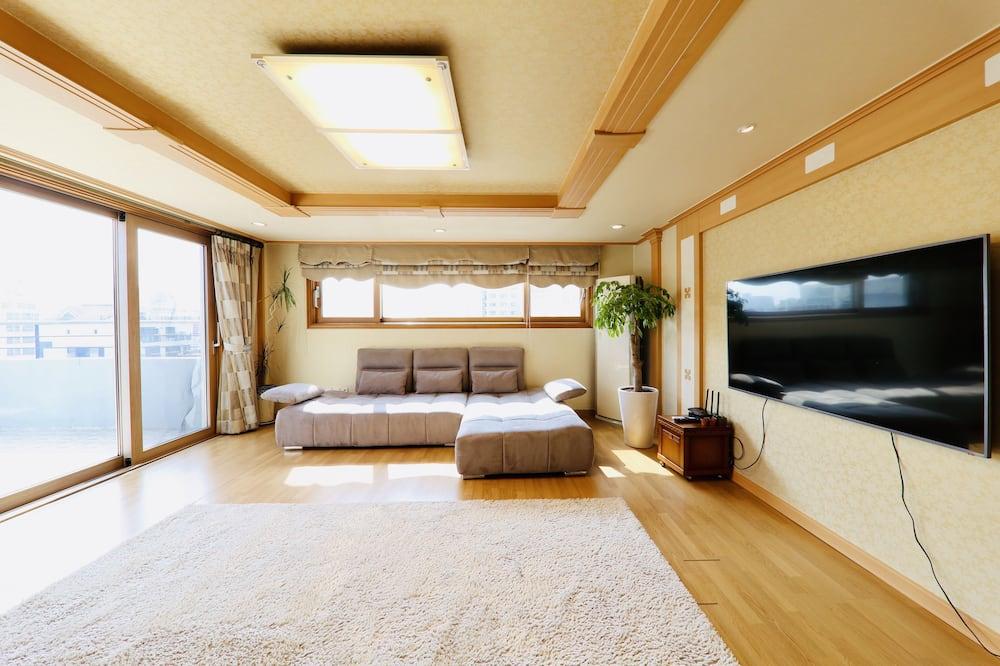 Premium-kattohuoneisto - Oleskelualue