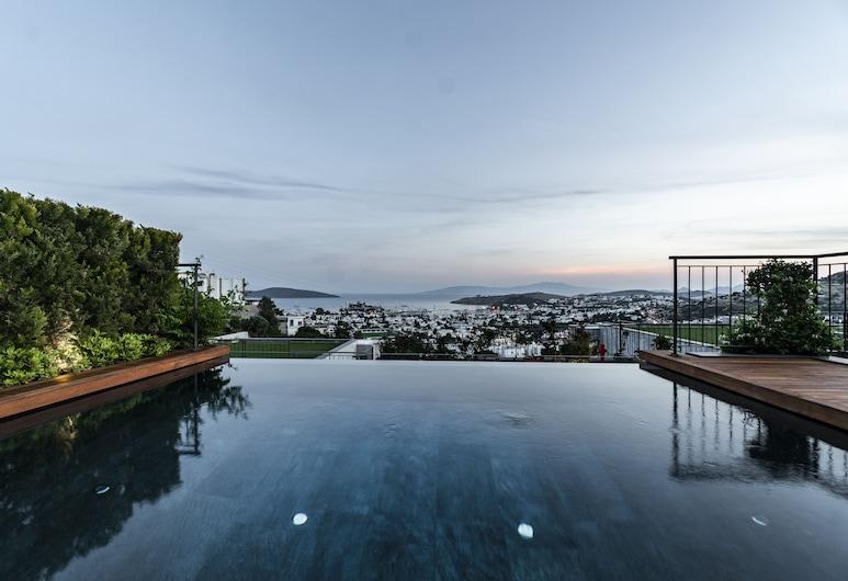 The Elysium Miramar Bodrum, Bodrum, Villa de diseño, 3 habitaciones, vista al mar, Terraza o patio