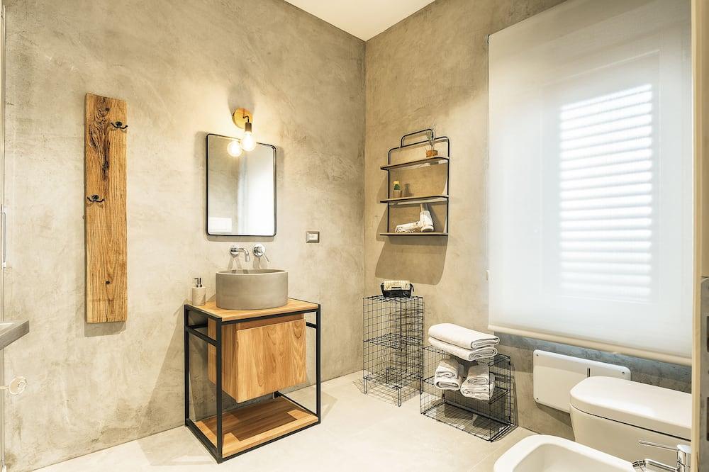 Standard-Doppel- oder -Zweibettzimmer, 2Einzelbetten, Talblick - Badezimmer