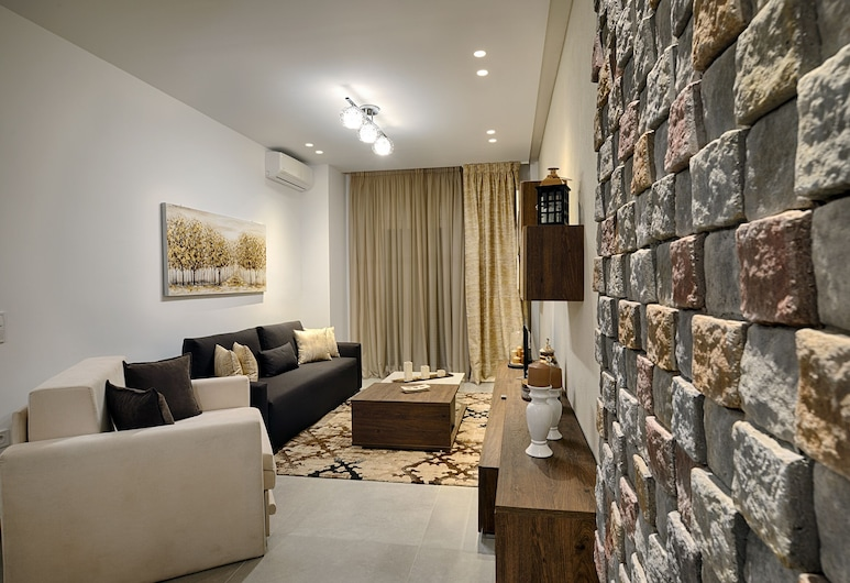 Elxis Luxury Apt (Must), Thessaloniki, Luxe appartement (Elxis), Woonkamer