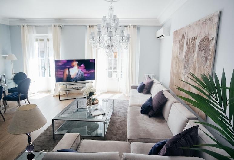 Heima Salamanca District Retiro Park, Madrid, Premium-lejlighed - 4 soveværelser, Opholdsområde