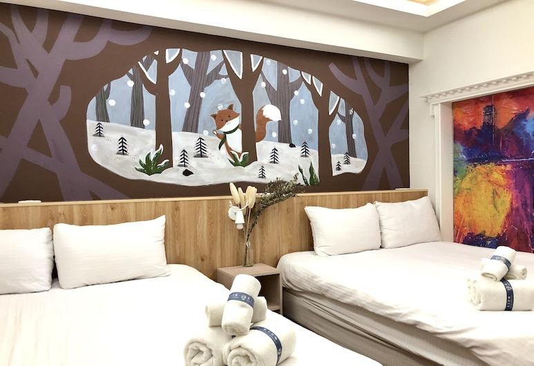 Go To Where, Kaohsiung, Quarto Quádruplo Empresarial, 2 camas de casal, Não-fumadores, Quarto