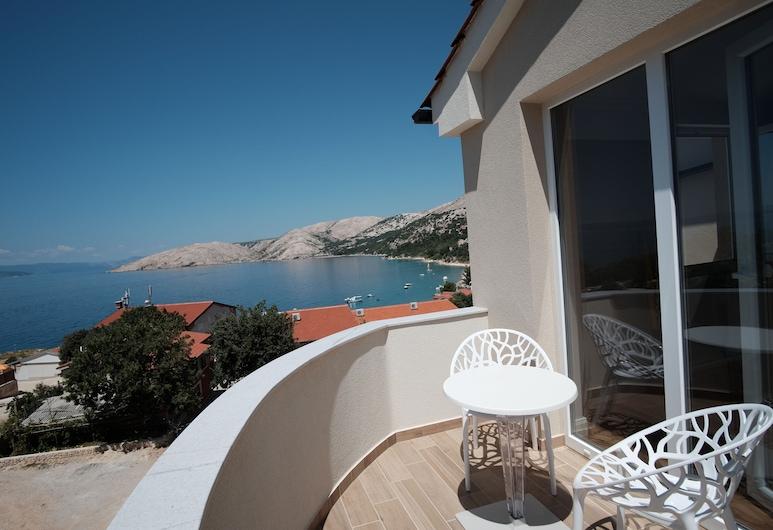 Rooms ''N'', Punat, Pokój dwuosobowy, widok na morze, Balkon