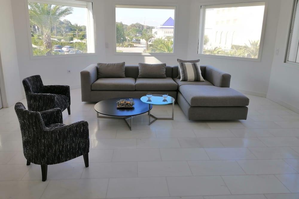 奢華公寓, 2 間臥室, 海濱 - 客廳