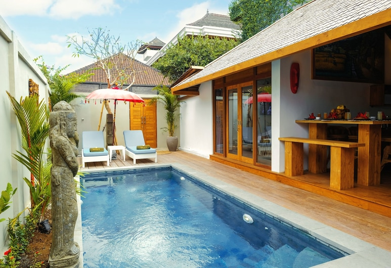 The Secret Jungle Villas Seminyak, Seminyak, Vila, 3 quartos (Purple Villa), Quarto