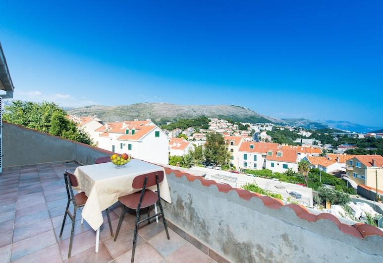 Apartments Tapera, Dubrovnik, Quarto casal conforto, Terraço, Vista parcial para o mar, Terraço/pátio