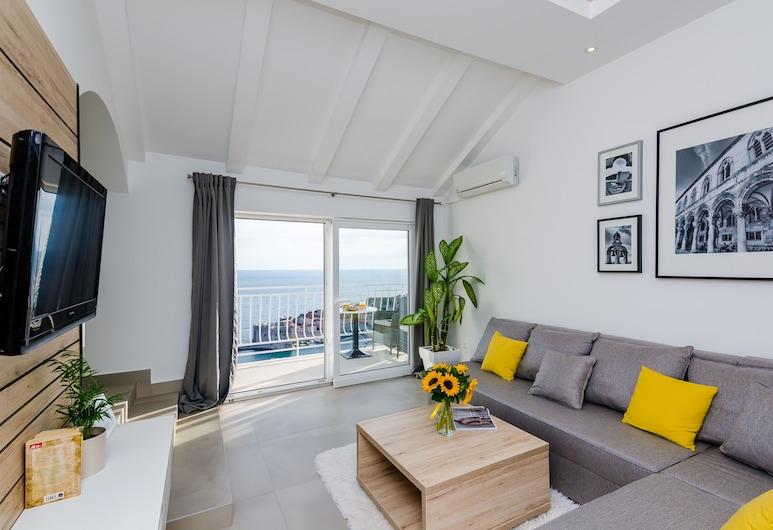 Apartments Dobroslavic, Dubrovnik, Apartamento, 1 quarto, Terraço, Vista para o mar, Área de estar