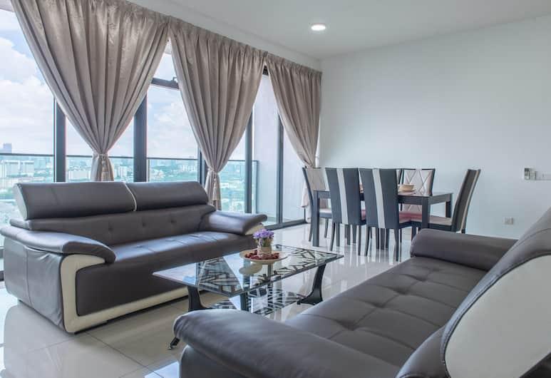 古普羅利弗茲家庭旅館, 吉隆坡, 豪華公寓, 3 間臥室, 城市景觀, 客廳