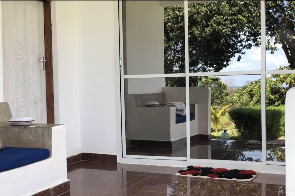 Rodinný apartmán, viacero postelí, nefajčiarska izba, výhľad na pláž - Balkón