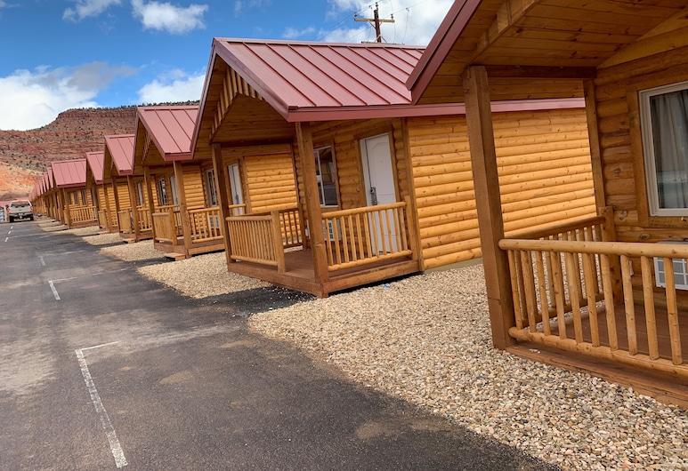 Red Canyon Cabins, Kanab, Deluxe-Ferienhütte, 1King-Bett, Nichtraucher, Wohnbereich