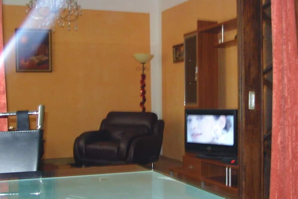 Класичні апартаменти, обладнано для інвалідів, з видом на місто - Вітальня