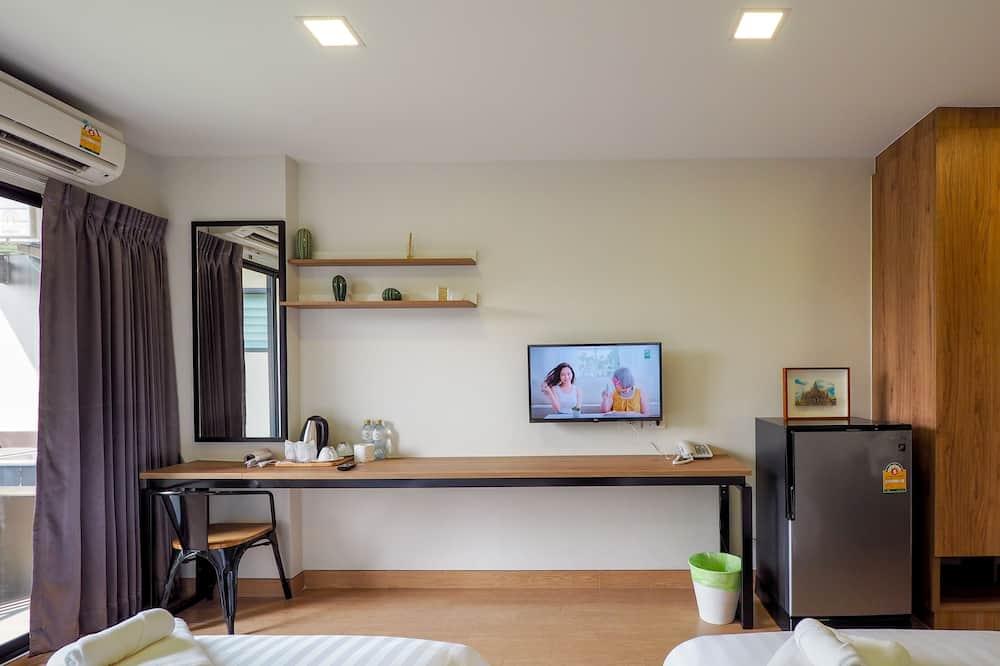 Standard-Zweibettzimmer, Terrasse, Stadtblick - Wohnbereich