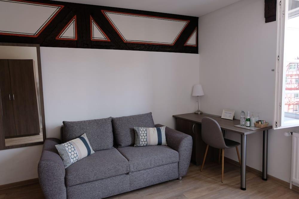 Pokoj Deluxe s dvojlůžkem, nekuřácký, výhled na město (Nr. 7) - Obývací prostor