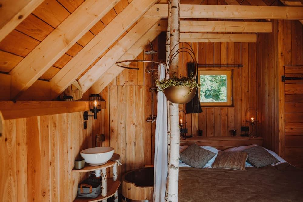 Будиночок категорії «Superior», приватна ванна, з видом на гори (Couple avec spa) - Ванна кімната