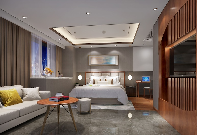 Holiday Inn Hotel And Suites Xi'An High-Tech Zone, an IHG Hotel, שיאן, חדר דה-לוקס, 2 מיטות יחיד, ללא עישון, חדר אורחים